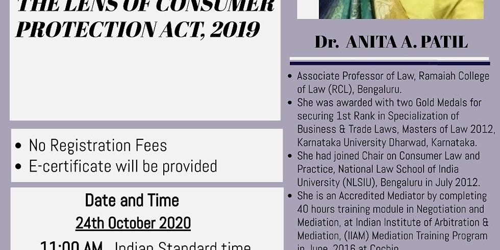 Interactive Webinar on Mediation Through The Lens of Consumer Protection Act, 2019