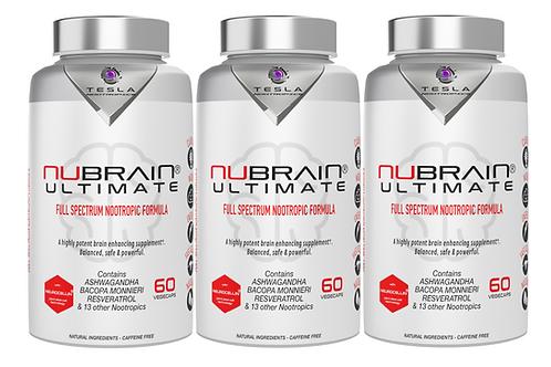 3 Bottles Nubrain Ultimate Nootropic Capsules