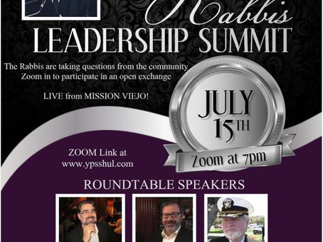 Rabbi F.J. Todd to Headline Pirchei Shul's 2nd Annual Rabbis Leadership Summit in Mission Viejo