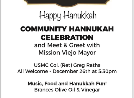 Mayor Raths Joins Pirchei Shul for Hanukkah