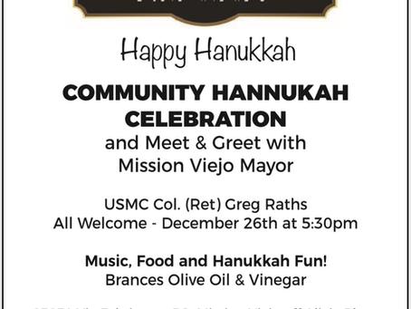Mayor Raths Joins Pirchei Shul for Hanukkah