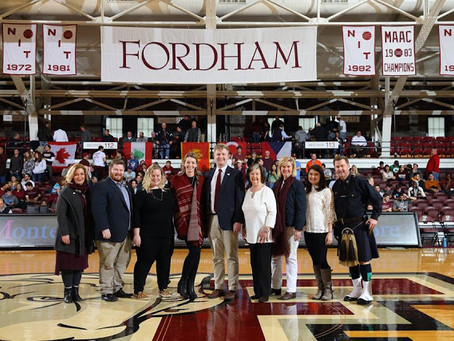 KMF Honored at Fordham Coaches vs Cancer Game!
