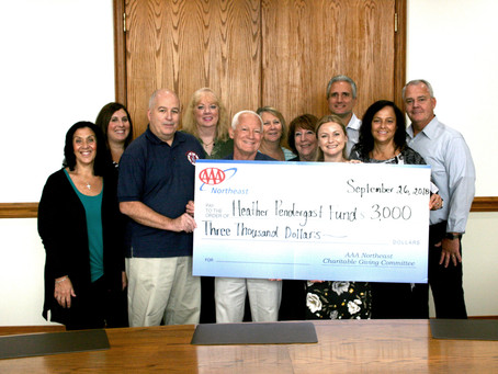 AAA Northeast Presents Donation to Heather's Fund