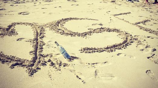 Steven Frosch Initials on Beach