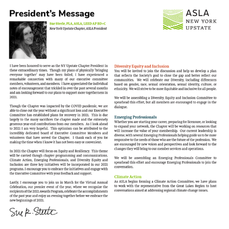 NYUASLA President's Message