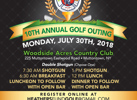 Heather's Fund Golf Outing 2018