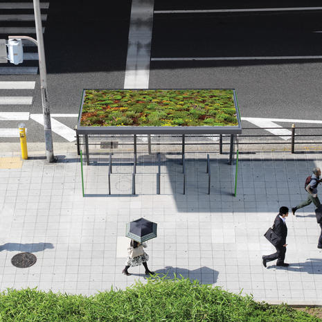 Aureo bus shelter with green roof
