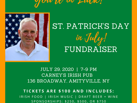 Fundraiser: St. Patrick's Day in July!