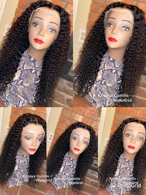 Curly lace wig unit