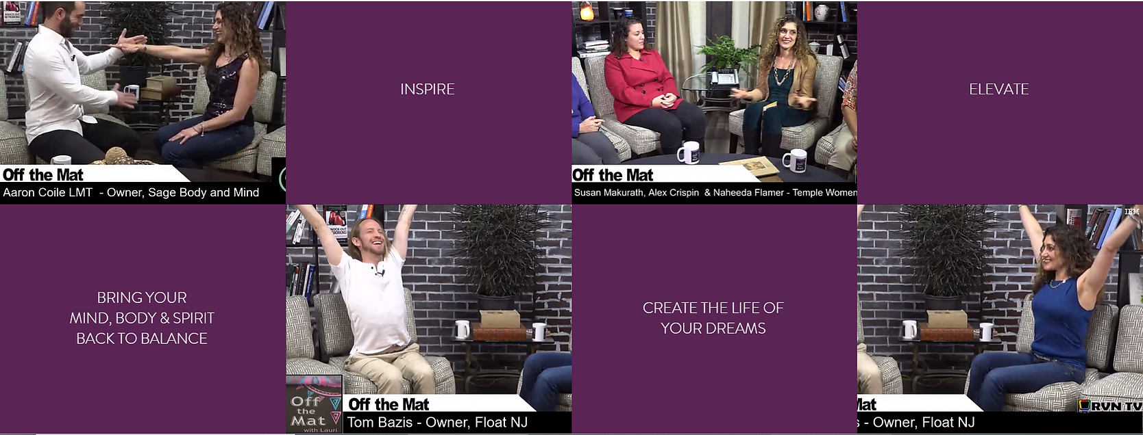 Inspire, Creae the Life of Your Dreams, Bring Your Mind, Body & Spirit Back to Balance