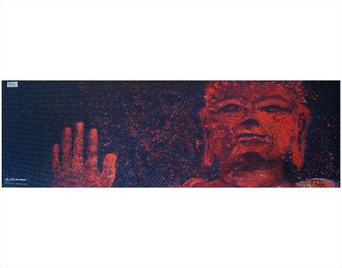 "Yoga Mat- ""Abhaya- Fearlessness"" - I Am Fearless"