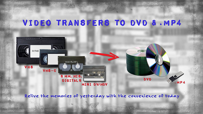 Home Video Transfers to DVD and MP4