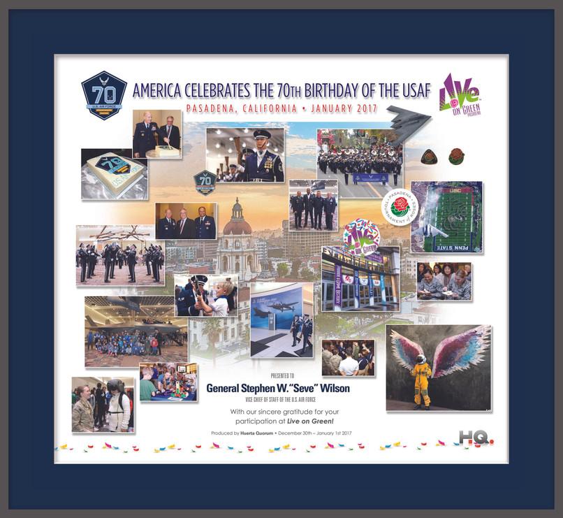 America Celebrates the 70th Birthday of the USAF