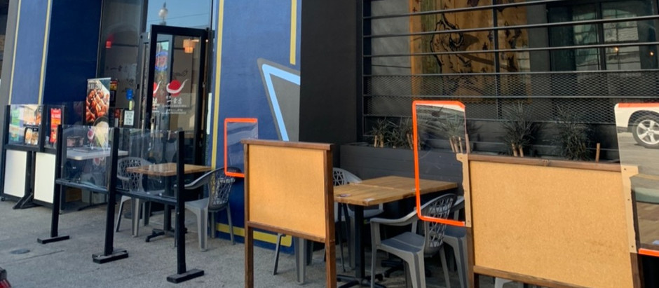 We are open for outside dining now!!