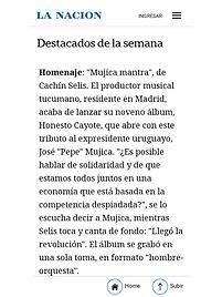 """Mención en Diario La Nación por el lanzamiento de """"Honesto Cayote"""""""