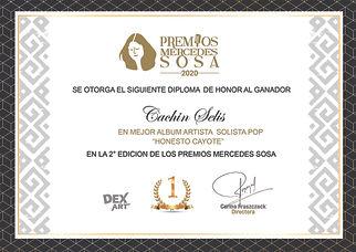 Premio Mercedes Sosa por Mejor Album Artista Solista Pop 2020