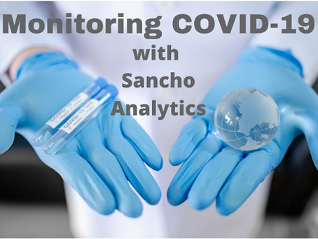 Monitoring COVID-19 with Sancho Analytics