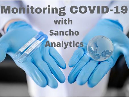 Monitoring COVID-19 with Sancho Analytics