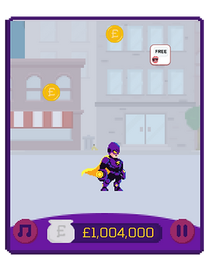 screen shot of playing the scam man and robbin' game