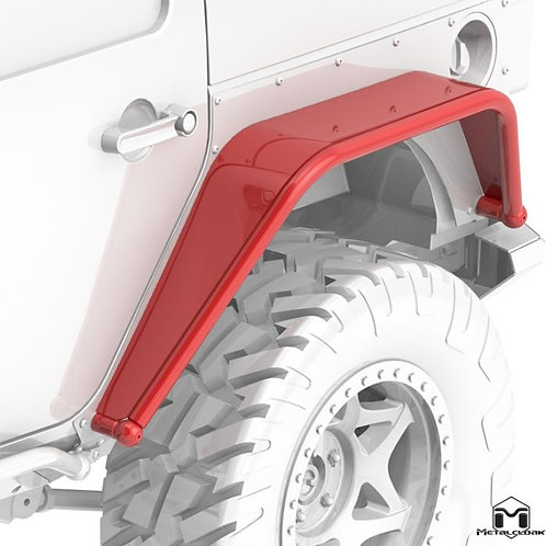 Overline Hi-Clearance Dovetailed & Removable Rear Flare, Wide Edition, Pair, JK