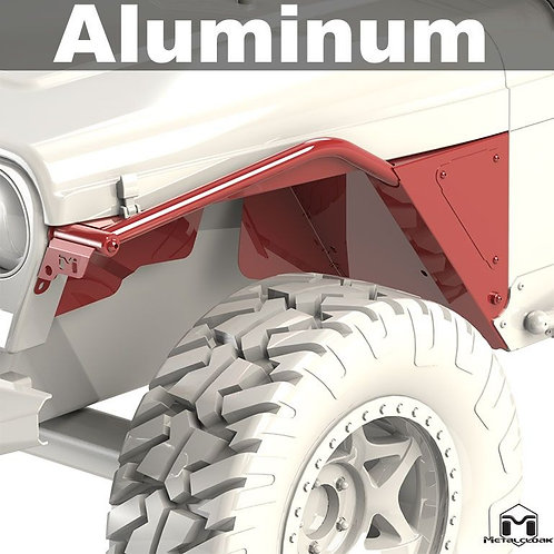 Arched Tube Fender, Pair, TJ/LJ, Aluminum
