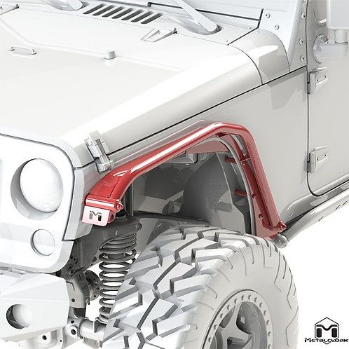 Overline Tube Fender, Front Pair - Jeep Wrangler JK/JKU