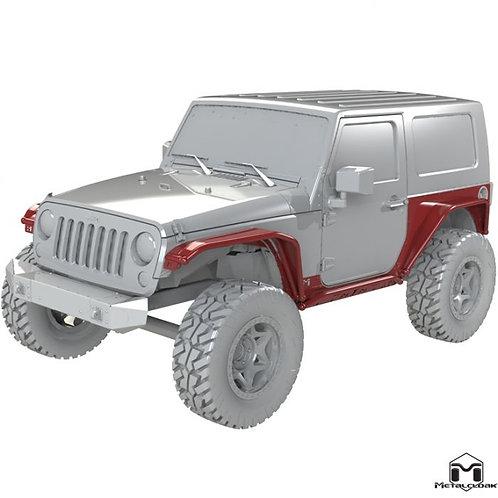 MetalCloak 2-Door Overline Body Armor System - Jeep Wrangler JK/JKU
