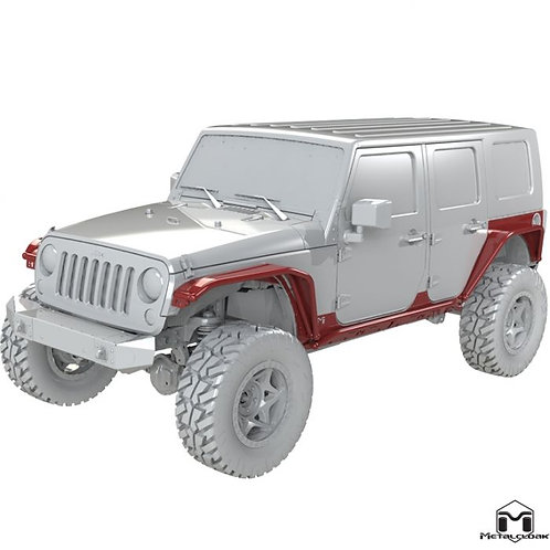 MetalCloak 4-Door Overline Body Armor System - Jeep Wrangler JK/JKU