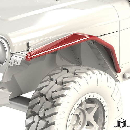 """6"""" Arched Front Flare, Pair, TJ/LJ/YJ"""