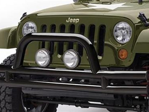 3 Inch Front Tube Bumper with Hoop Jeep Wrangler JK JKU  Black Powder Coat