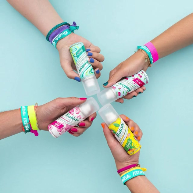 Hands in if you've got that festival feeling. Batiste mini are perfect for quick hair tune-ups. ⛺️️☀️ **competition time** Show us your wristbands (tag @BatisteHair ) and win a can from our mysterious new range!