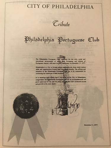 Tribute from City of Philadelphia