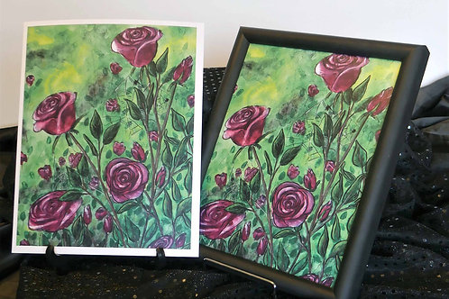 Roses and Spiders - 8x10 Laser Print
