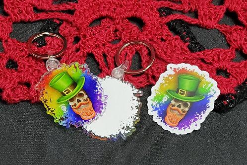 St. Patricks Day Leprechaun Skull