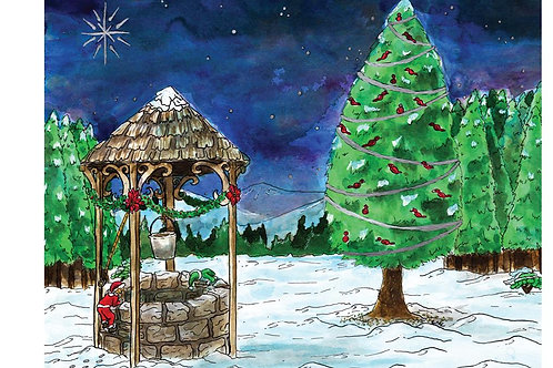 Mystery of the Christmas Well - 8x10 Laser Print