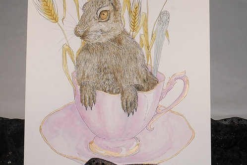 A Hare in my Tea Print