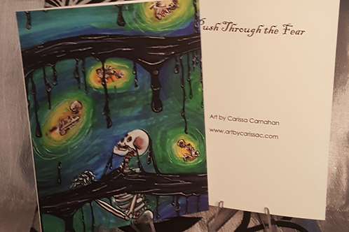 Push Through the Fear - Greeting Card