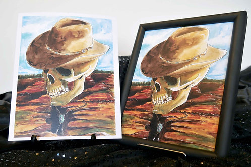 Country Music Skull - 8x10 Fine Art Print