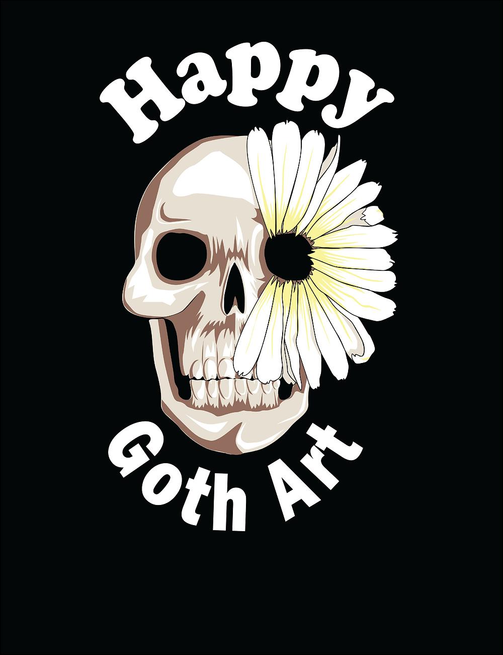 Happygothart_logo_skullandFlower