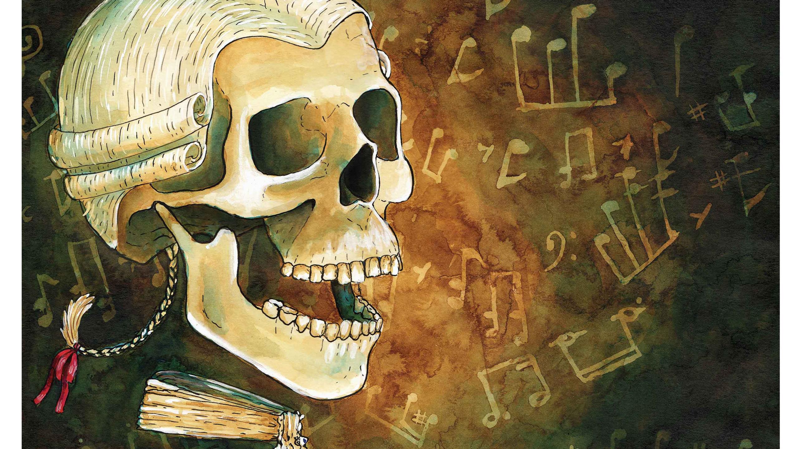 Classical Music Skull