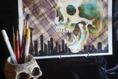 Grunge Skull - Original