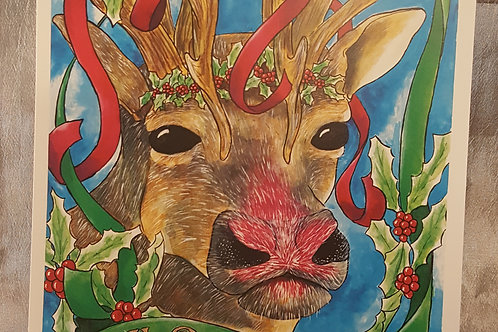 Rudolph the Red-Nosed Reindeer Print