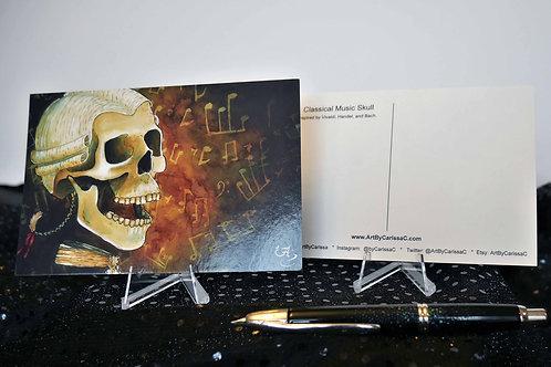 Classical Music Skull - Postcard