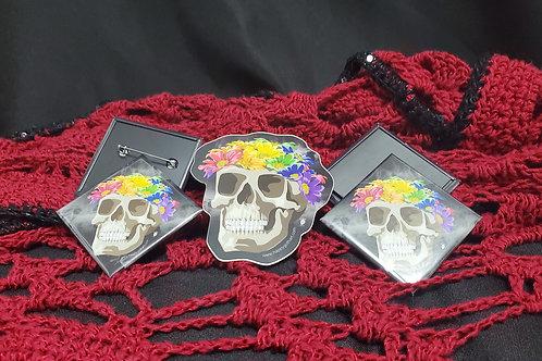Ally Pride Flower Crown Skull
