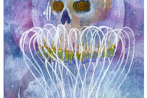 """""""Immortal"""" Jellyfish Skull - Prints"""