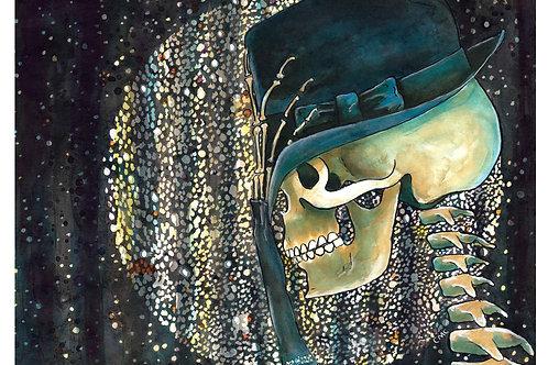Pop Music Skull - 8x10 Laser Print