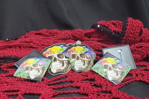 Pride Flower Crown Skull