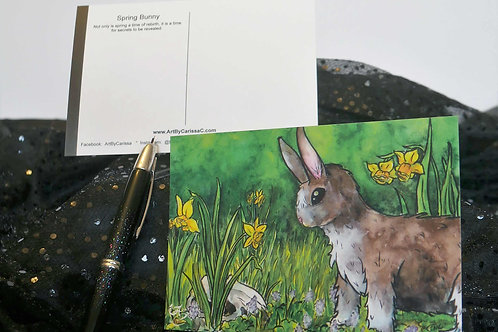 Spring Bunny - Postcard