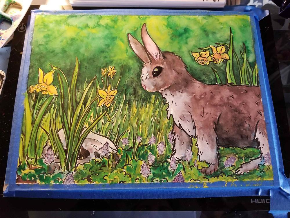 Gouache_Spring_bunny