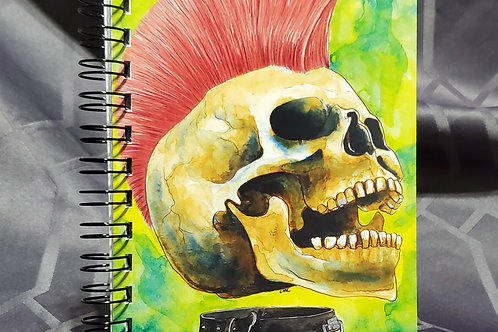 Punk Rock Skull - Notebook